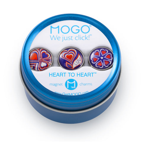 MOGO Charm Collection - Heart to Heart (Tin of 3 Charms)
