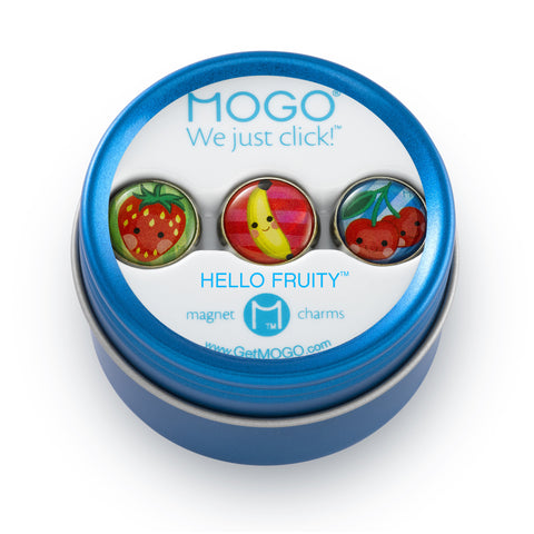 MOGO Charm Collection - Hello Fruity (Tin of 3 Charms)