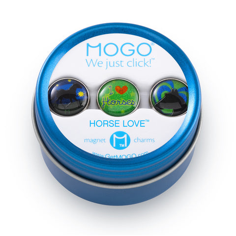 MOGO Charm Collection - Horse Love (Tin of 3 Charms)