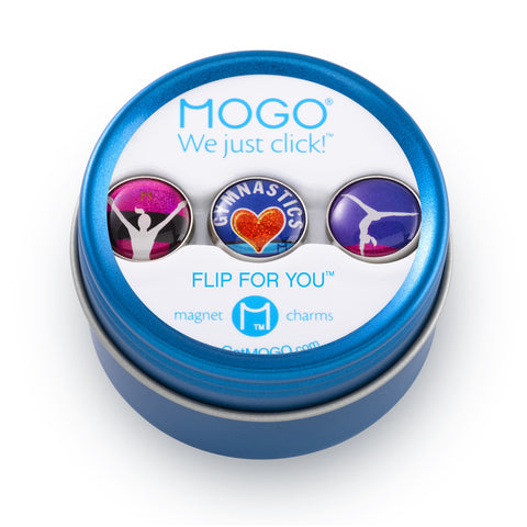 MOGO Charm Collection - Flip For You (Tin of 3 Charms)
