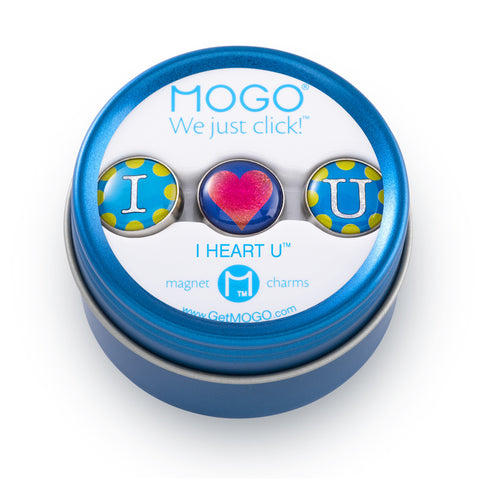 MOGO Charm Collection - I Heart You (Tin of 3 Charms)