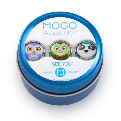 MOGO Charm Collection - I See You (Tin of 3 Charms)