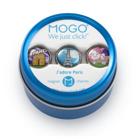 MOGO Charm Collection - J'adore Paris (Tin of 3 Charms)
