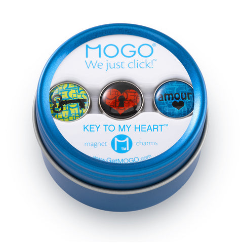 MOGO Charm Collection - Key to My Heart (Tin of 3 Charms)