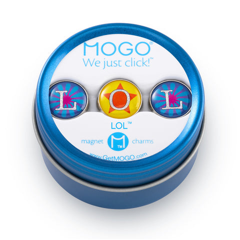 MOGO Charm Collection - LOL (Tin of 3 Charms)
