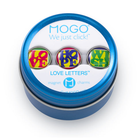 MOGO Charm Collection - Love Letters (Tin of 3 Charms)