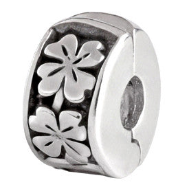 SilveRado 4 Leaf Clover Clip Sterling Silver Celtic Collection Charm