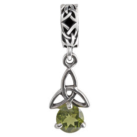 SilveRado Celtic B-Stone August PD Sterling Silver Celtic Collection Birth Stone Charm