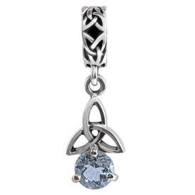 SilveRado Celtic B-stone December BT Sterling Silver Celtic Collection Birth Stone Charm