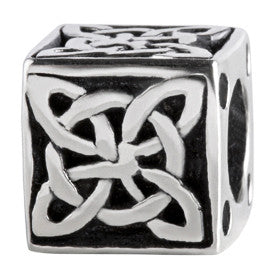 SilveRado Celtic Cube Sterling Silver Celtic Collection Charm