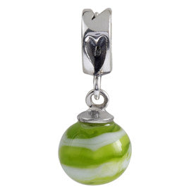 SilveRado Apple Swirl Murano Glass Dangle