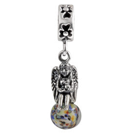 SilveRado Angel of Light Murano Glass Dangle