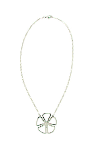 MOGO Silver Flower Charm Necklace