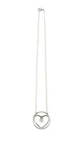 MOGO Silver Heart Charm Necklace