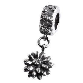 SilveRado Flower dangle Sterling Silver Dangle Charm