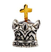 SilveRado 2 Tone Crown No2 Sterling Silver 2 Tone Charm