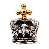 SilveRado 2 Tone Crown No3 Sterling Silver 2 Tone Charm