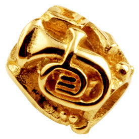 SilveRado Drums-French horn Gold 14kt Gold Charm