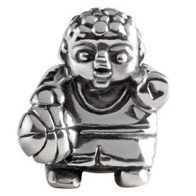 SilveRado Basketball Player Sterling Silver Charm