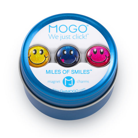 MOGO Charm Collection - Miles of Smiles (Tin of 3 Charms)