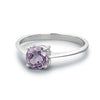 Ring, Custom Made Sterling Silver Natural Amethyst Ring N1/2, Custom Made Jewellery- Caitlin's Crafty Creations