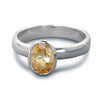 Ring, Custom Made Sterling Silver Heated Citrine Ring, Custom Made Jewellery- Caitlin's Crafty Creations