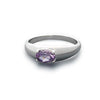 Ring, Custom Made Sterling Silver Natural Amethyst Ring, Custom Made Jewellery- Caitlin's Crafty Creations