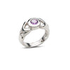 Ring, Custom Made Sterling Silver Faceted Round Amethyst Ring, Custom Made Jewellery- Caitlin's Crafty Creations