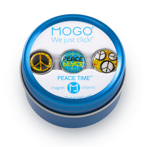 MOGO Charm Collection - Peace Time (Tin of 3 Charms)