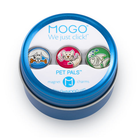 MOGO Charm Collection - Pet Pals (Tin of 3 Charms)