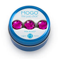 MOGO Charm Collection - Pink Bling (Tin of 3 Charms)