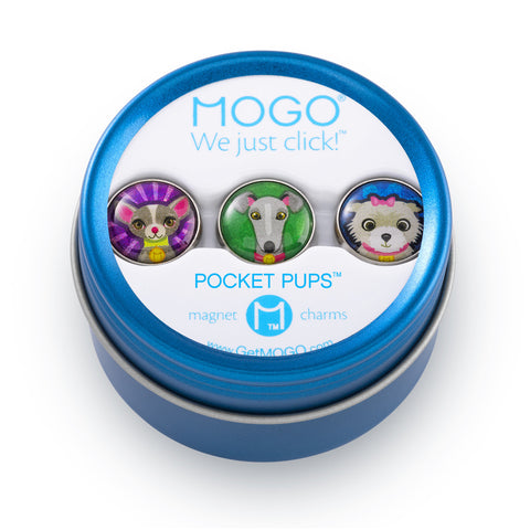 MOGO Charm Collection - Pocket Pups (Tin of 3 Charms)