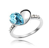 Ring, Kristal Aquamarine Ring Q, Custom Made Jewellery- Caitlin's Crafty Creations