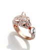 Ring, Custom Made Leopard Head Ring featuring Swarovski Crystals, Custom Made Jewellery- Caitlin's Crafty Creations