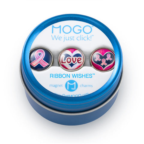MOGO Charm Collection - Ribbon Wishes (Tin of 3 Charms)