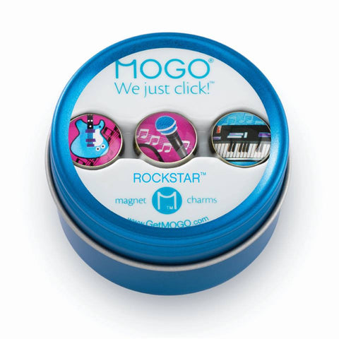MOGO Charm Collection - Rock Star (Tin of 3 Charms)