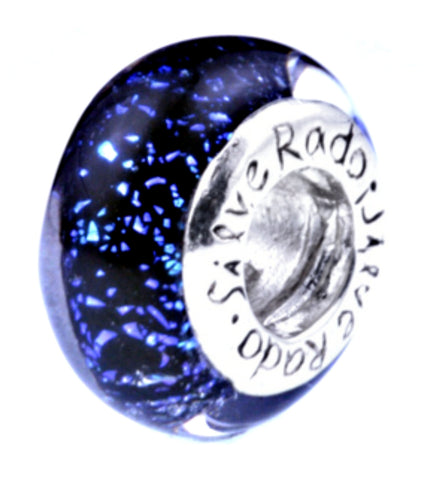 SilveRado City Lights Sterling Silver Dichroic Glass Bead