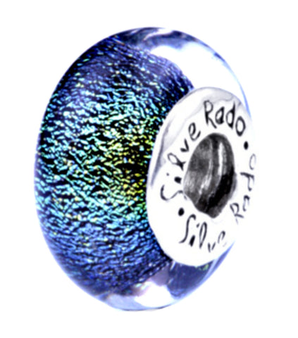 SilveRado Auckland Sterling Silver Dichroic Glass Bead