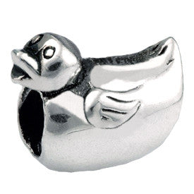 SilveRado Bath Time Duck Sterling Silver Charm