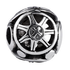 SilveRado Big Wheel Sterling Silver Large Focal Charm