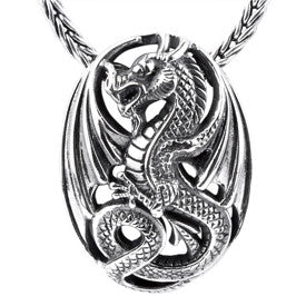 SilveRado Dragon Heart Sterling Silver Pendant