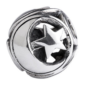 SilveRado Moon And Star Sterling Silver Large Focal Charm