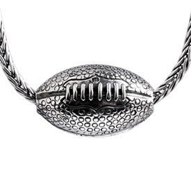 SilveRado Rugby Ball Sterling Silver Pendant