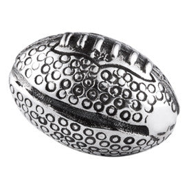 SilveRado Rugby Ball Sterling Silver Small Focal Charm