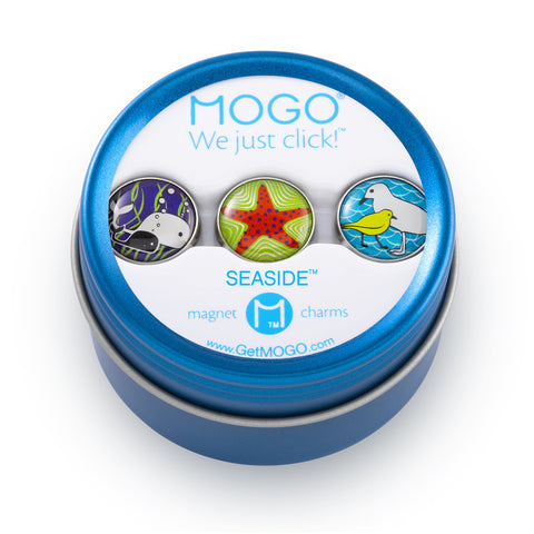 MOGO Charm Collection - Seaside (Tin of 3 Charms)