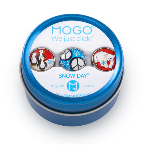 MOGO Charm Collection - Snow Day (Tin of 3 Charms)