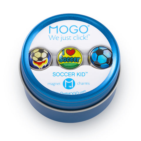 MOGO Charm Collection - Soccer Kid (Tin of 3 Charms)