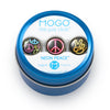 MOGO Tin of 3 Charms, MOGO Charm Collection - Neon Peace (Tin of 3 Charms), MOGO Charms- Caitlin's Crafty Creations