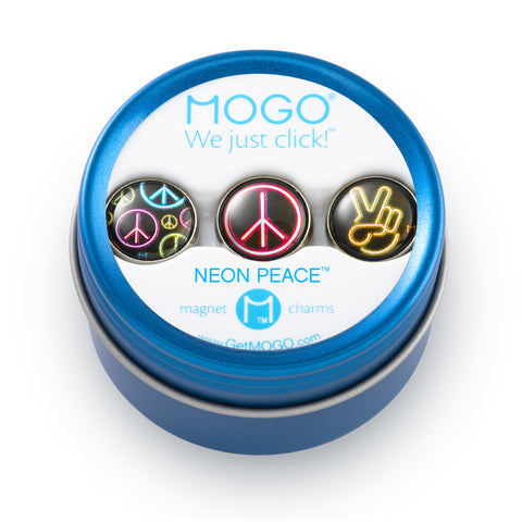 MOGO Charm Collection - Neon Peace (Tin of 3 Charms)