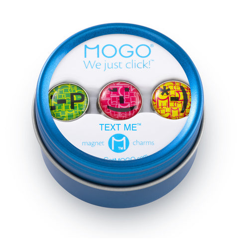 MOGO Charm Collection - Text Me (Tin of 3 Charms)